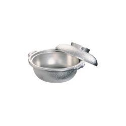 アルミ 土鍋(白仕上風) 30cm 写真1