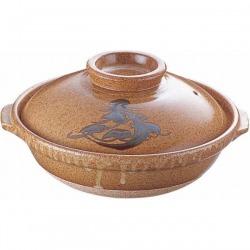 安楽 土鍋 T05-58 8寸 写真1
