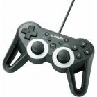 USBゲームパッド/12ボタン/振動/連射/高耐久/ブラック