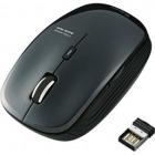 ワイヤレスBlueLEDマウス/5ボタン/ブラック