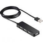 USB2.0ハブ 4ポートセルフパワータイプ ブラック