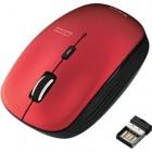 ワイヤレスBlueLEDマウス/5ボタン/レッド