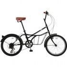シティサイクル 20インチ自転車 ROADYACHT ブラック 【大型商品につき代引不可・時間指定不可・返品不可】