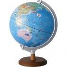 国旗イラスト付き地球儀 30cm球 行政タイプ OYV321