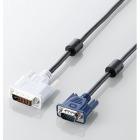 DVIケーブル アナログ接続用 3.0m/DVI-I29pinオス-D-Sub15pin(ミニ)オス (ブラック)
