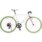 クロスバイク 700×23C シマノ7段変速 (ホワイト×ピンク)