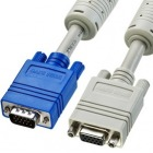 ディスプレイ延長ケーブル(複合同軸・アナログRGB・延長・3m) コア付き