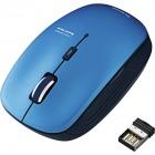 ワイヤレスBlueLEDマウス/5ボタン/ブルー