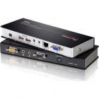 オーディオ/RS-232対応USB KVMエクステンダー