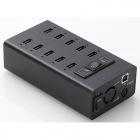 タブレット充電用USBハブ/10ポート/ブラック