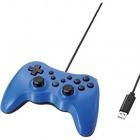 12ボタンUSBゲームパッド/振動機能・連射機能付/ブルー