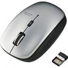 ワイヤレスBlueLEDマウス/5ボタン/シルバー