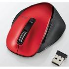 BlueLEDマウス/M-XG4シリーズ/無線/2.4GHz/5ボタン/握りの極み/S/レッド