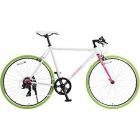 クロスバイク 650×23C シマノ7段変速 (ラピッドファイヤー) ホワイト×ピンク