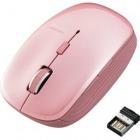 ワイヤレスBlueLEDマウス/5ボタン/ピンク