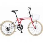 24インチ折りたたみ自転車 m6シリーズ ポッピーレッド 【大型商品につき代引不可・時間指定不可・返品不可】
