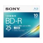 ビデオ用BD-R 追記型 片面1層25GB 6倍速 ホワイトプリンタブル 10枚パック