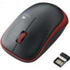 ワイヤレスIR LEDマウス/3ボタン/レッド