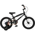 ジュニア用BMX自転車 16インチ DX16 ジェットブラック 補助輪付 【大型商品につき代引不可・時間指定不可・返品不可】