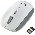 ワイヤレスBlueLEDマウス/5ボタン/ホワイト