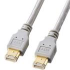 IEEE1394ケーブル(6pin-6pin・1m・ライトグレー)