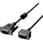 RoHS対応/D-sub15ピン(ミニ)ケーブル/小型コネクタ/3.0m/ブラック/簡易パッケージ