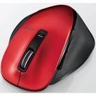 BlueLEDマウス/M-XG4シリーズ/無線/Bluetooth/5ボタン/握りの極み/S/レッド