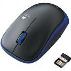 ワイヤレスIR LEDマウス/3ボタン/ブルー