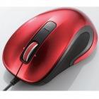 レーザーマウス/M-LS12ULシリーズ/有線/3ボタン/レッド