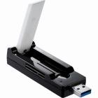 IEEE802.11ac Draft/11n/11a/11g/11b USB対応Wi-Fiアダプター/867Mbps/ブラック