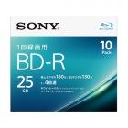 ビデオ用BD-R 追記型 片面1層25GB 4倍速 ホワイトプリンタブル 10枚パック