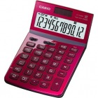 電卓 NEO STYLE デザイン電卓 12桁 ジャストタイプ レッド