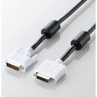 DVI アナログ延長ケーブル 1.0m/DVI-I29pinオス-DVI-I29pinメス (ブラック)