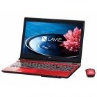 15.6型ノートパソコンLAVIE Note Standard NS750/EAシリーズクリスタルレッド(Office Home&Business Premium プラス Office 365)