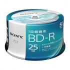 ビデオ用BD-R 追記型 片面1層25GB 4倍速 ホワイトプリンタブル 50枚スピンドル