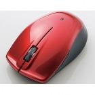 Bluetooth4.0対応 BlueLEDワイヤレスマウス/5ボタン/レッド