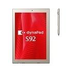 dynaPad S92/T:Atom x5-Z8300/4G/64Gフラッシュメモリ/デジタイザー+タッチパネル付12.0型WUXGA+/Win10Pro 64bit/Office無
