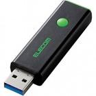 USBメモリー/USB3.0対応/プッシュ式/PSU/32GB/グリーン