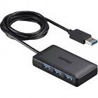 USB3.0ハブ 4ポートセルフパワータイプ マグネット付き ブラック
