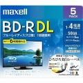 録画用 BD-R 50GB 4倍速対応 プリンタブル ホワイト 5枚入