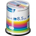 DVD-R DL 8.5GB PCデータ用 8倍速対応 100枚スピンドルケース入り シルバーレーベル