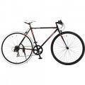 420-BK SCALPEL 700x28C クロスバイク 7段変速 ジェット・ブラック×ディーオレンジ  【大型商品につき代引不可・時間指定不可・返品不可】