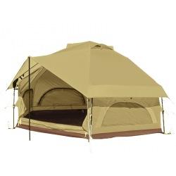 ニョキッとすぐにたつ 快適なワンタッチ寝室用テント KINOKO TENT キノコテント ベージュ 写真1