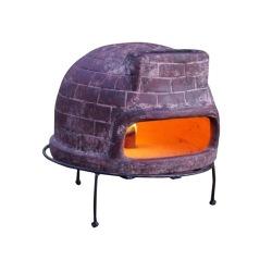 【ピザ・窯・オーブン・暖炉・バーベキュー】 メキシコ製 ピザ窯 チムニー 写真1