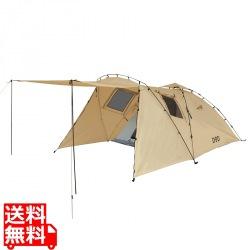 2人でもゆったり キャンプツーリング用大型 ライダーズタンデムテント ( タン ) 写真1