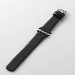 Apple Watch 42mm/ソフトレザーバンド/フラットスクエアタイプ/ブラック 写真1