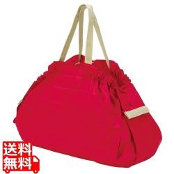 コンパクトバッグ L レッド | エコバッグ 買い物 レジかご お出かけ サイドバッグ スーパー コンパクト 写真1