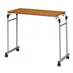 伸縮式ベッドテーブル ブラウン 写真1
