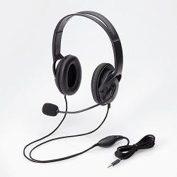 4極ヘッドセットマイクロフォン/両耳/オーバーヘッド/40mm/ブラック 写真1