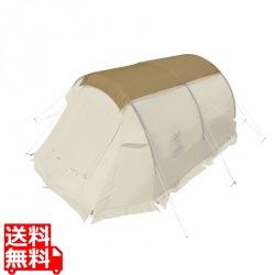 風よけテントとしても使用できる カマボコシールドミニ タン 写真1
